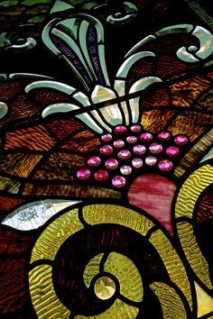 Stained Glass Window Detail, Sottile House SC