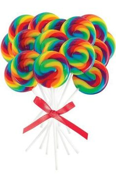 """Kids will love these Mini Rainbow Spiral Lollipops. Let them enjoy a Lollipop during the party or include them in their party favor kits. Each package includes 16 lollipops. Each measures 2"""""""" in diame"""