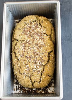 This yeast free Teff Wheat Bran Chia Bread is made with very healthy ingredients and is low in carbohydrates as well. Its an easy bread with lots of taste and is fiber rich too | V | kiipfit.com Healthy Bread Recipes, Vegan Breakfast Recipes, Healthy Breads, Eat Healthy, Yummy Recipes, Vegan Recipes, Vegan Bread, Delicious Sandwiches, Grain Foods