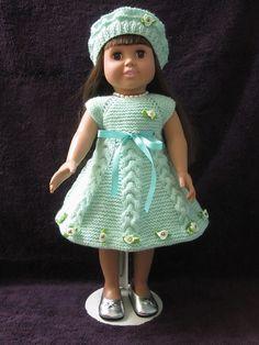 Ravelry: giahoi в American Girl Doll сверху вниз платье Set