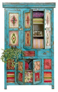 Mexican painted furniture on Pinterest