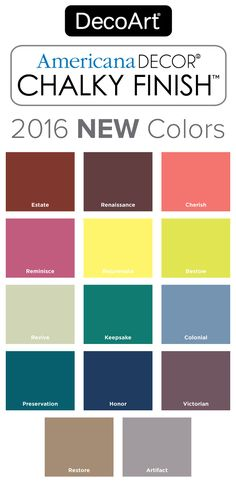 2016 New Americana Decor Chalky Finish Colors Paint Offers