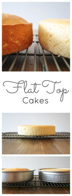 how to get perfectly flat cakes every time! Click through for tutorial!Learn how to get perfectly flat cakes every time! Click through for tutorial! Bake Flat Cakes, No Bake Cake, Just Desserts, Delicious Desserts, Dessert Recipes, Party Recipes, Dessert Ideas, Baking Tips, Baking Recipes