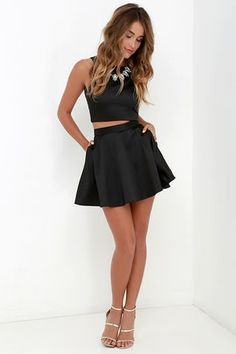 Nice? :) comment if it i s nice http://m.lulus.com/products/set-for-success-black-two-piece-dress/259834.html