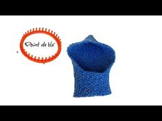 Tricotin - Capuche au point de blé I Loom Knitting - YouTube