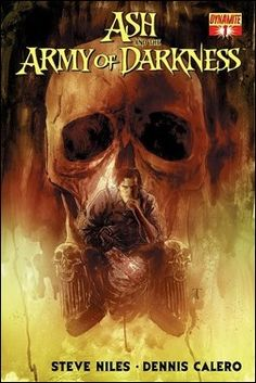 Your first look at Ash and the Army of Darkness #1 by Steve Niles and Dennis Calero, featuring a cover by Ben Templesmith, courtesy of Dynamite Entertainment.