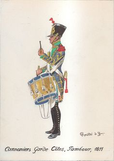 French; Coastal Defence Artillery, Drummer, 1811 by H.Knotel,