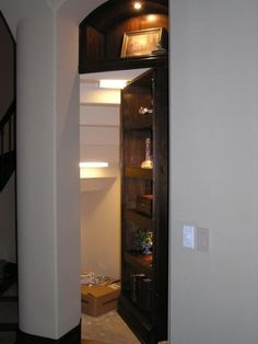 Another hidden door idea for the unfinished/utility area of the basement.