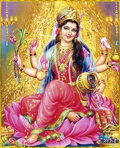 Maa Lakshmi bestow me with a prosperous career , abundant wealth and strength to stand for myself ... be like you .. independent , brave , prosperous , abundance , constant flow of wealth , powerful and so sure and secure .