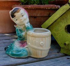 Vintage Royal Copley Pottery Pastel Colored Planter