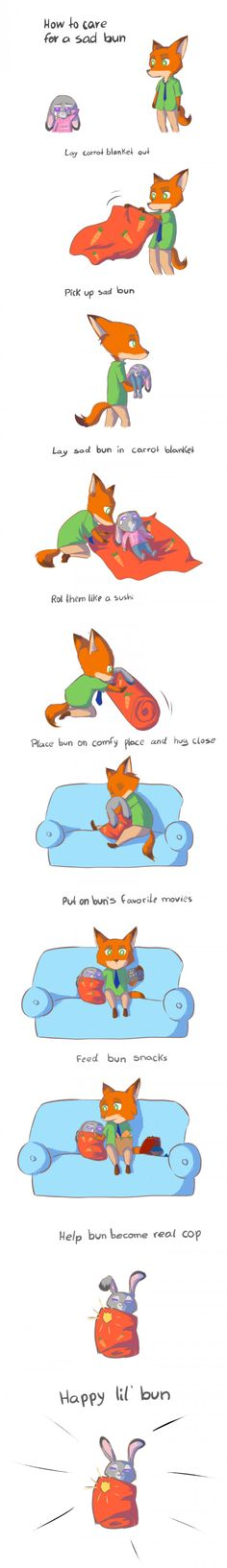 How to care for a sad bun (Zootopia Edition, DaniiScream)