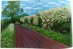 Art | David Hockney's Landscapes david-hockney-landscape-hawthorne – Pattern People | Surface Design + Inspiration