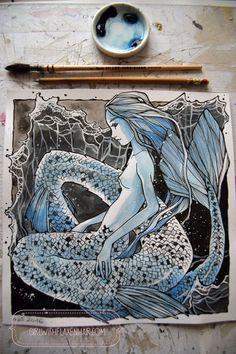 mermaid art | Tumblr