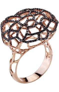 Gold and Diamond Ring by Nanis | Holiday Color Crush - Gold, Black and Crystal | Haute Tramp
