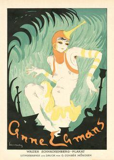 """Walter Schnackenberg - Kostume, Plakate, und Dekorationen, """"Anne Lemons"""", 1920"""