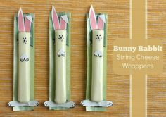 bunny rabbit string cheese wrappers