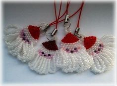Christmas ornament from beads