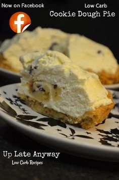 Cookie Dough Pie / #lowcarb ♥ shared via https://facebook.com/lowcarbzen