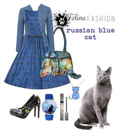 """russian blue cat"" by agnesabell ❤ liked on Polyvore featuring 10 Crosby Derek Lam, Iron Fist, Anuschka, Burberry and Silver Treasures"