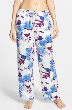 'Bold Botanics' Silk Pajama Pants