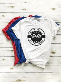 7a673326b Life Is Better At The Races Custom Tee - Dirt Bike T-Shirt Supercross  Motocross Motorcycle Braaap Kid Toddler Bicycle Race Dirt Track Car