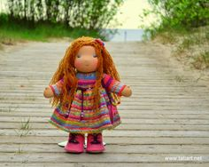 Waldorf Doll Ready to Ship 13 inch Waldorf Doll. by tatiartlv Waldorf Dolls, Crochet Hats, Rainbow, Christmas Ornaments, Toys, Holiday Decor, Handmade Gifts, Ship, Vintage