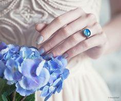 Blue petal ring  Hydrangea  Spring ring  Bloom by BeautySpot, $22.50