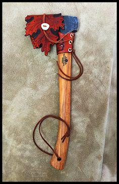 """Gransfors Bruks Hunter's Axe #418 with Custom """"Oak-Leaf"""" Sheath & Collar by John Black"""