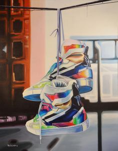 5725c5658db3 Raf Simons Sneaker art by Rapheal Crump
