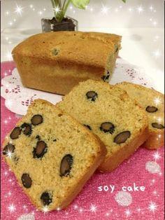 低GI☆黒豆ときな粉のパウンドケーキ