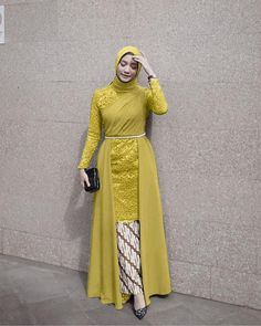 Ivana set maxi long dress with Batik skirt Free POS Jakarta-Malaysia RM 130 Material Hijab Evening Dress, Hijab Dress Party, Hijab Style Dress, Dress Indian Style, Kebaya Modern Hijab, Kebaya Hijab, Kebaya Dress, Model Kebaya Brokat Modern, African Fashion Dresses