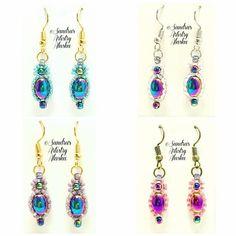 Alaska Beaded Earrings in Hematite in 4 Variations--(Handmade and Designed) #retail #sandraartistryalaska.com...