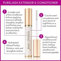 A single coat of PureLash Extender and Conditioner before applying mascara will help strengthen, lengthen and thicken your lashes, making the mascara twice as effective.