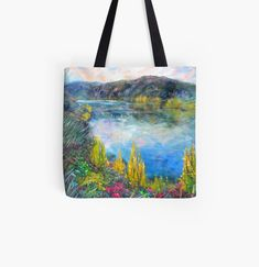 Cromwell New Zealand, Autumn Lake, Iphone Wallet, Fine Art Prints, My Arts, Reusable Tote Bags, Printed, Awesome, Artist