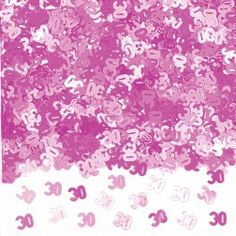 Ideal to sprinkle on the tables or to add to invitations, cards & presents. Birthday Party Tables, 30th Birthday Parties, Happy 30th Birthday, Pink Table, Table Confetti, Love Coupons, Pink Parties, Lol, Sprinkles