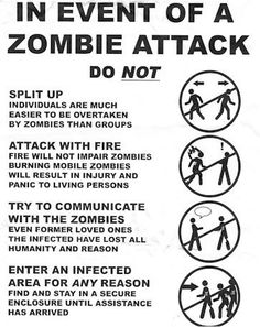 In the event of a zombie attack...attack with fire only if they are in a pit and can't get out :) Zombie Survival Guide, Survival Life Hacks, Survival Prepping, Zombies Survival, Survival Skills, Doomsday Survival, Emergency Preparedness, Survival Stuff, Wilderness Survival