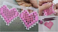 Crochet Patterns Patrón and more :) Filet Crochet, Crochet Shawl, Easy Crochet, Knit Crochet, Uñas Diy, Crochet Purses, Crotchet, Needlepoint, Crochet Projects