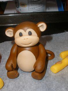 Handmade fondant monkey by CScakedesign, via Flickr