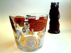 Mid Century Jeannette Glass Red and Gold Ice by RocketLounge