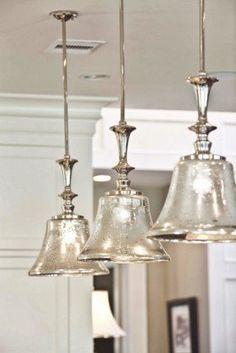 Kitchen: Fair Kitchen Decoration With Glass Cone Kitchen Pendant Light