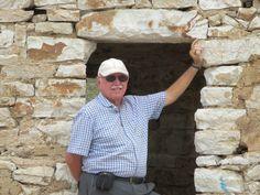 David Stanley posing in the Castle of Ali Pasha Tepelena at Porto Palermo, Albania. David Stanley, Albania, Palermo, Ali, Coastal, Button Down Shirt, Men Casual, Mens Tops, Porto