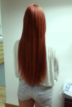 Extensiones de queratina #extensiones #queratina #extensions #red #hair #beauty #redhair #me
