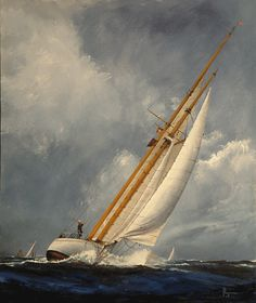 Original oil paintings of Classic Sailing Yachts and the people who sail them