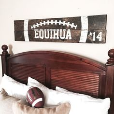 Vintage Football Wood Sign