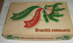 Vintage 3 Pound Brach's Chocolates Candy Box 1950'S