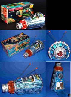Space Capsules - SPACE CAPSULE BLUE VERSION - HORIKAWA - JAPAN - ALPHADROME ROBOT AND SPACE TOY DATABASE