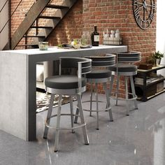 Amisco Browser 26-inch Swivel Metal Counter Stool | Overstock.com Shopping - The Best Deals on Bar Stools