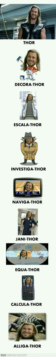 Funny pictures about Thor. Thor Everywhere. Oh, and cool pics about Thor. Thor Everywhere. Also, Thor. Thor Everywhere. Avengers Humor, Thor Meme, Funny Marvel Memes, Dc Memes, Marvel Jokes, Funny Jokes, Thor Jokes, Funny Geek, Memes Humor