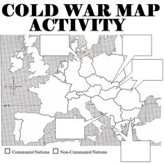 War Map Activity Students are asked to label countries boundaries) of Europe, and explain how countries fell to communism. Good activity after a Cold War lesson.Students are asked to label countries boundaries) of Europe, and explain how coun High School World History, World History Classroom, World History Lessons, Study History, History Quotes, Women's History, Ancient History, Teaching Us History, History Teachers
