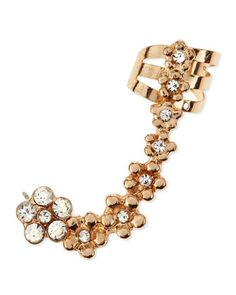 Crystal-Studded Daisy Ear Cuff by Jules Smith at Neiman Marcus.
